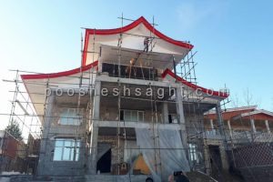 تعمیر سقف شیروانی ویلا
